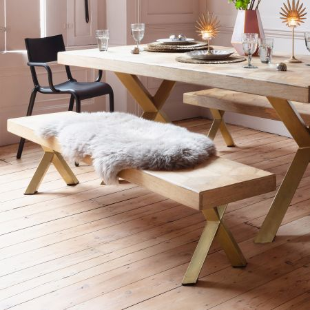 Faye Parquetry Bench