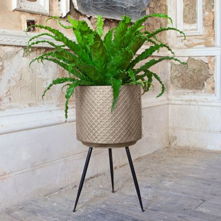 Scalloped Metal Plant Stand