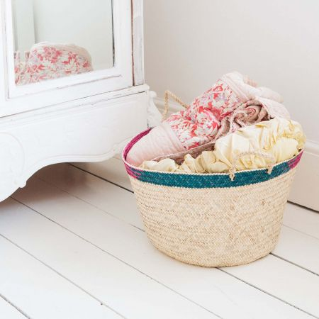 Multi Colour Palm Basket