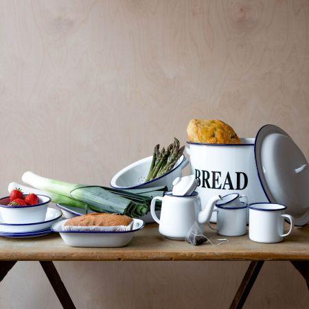 Enamelware Bread Bin
