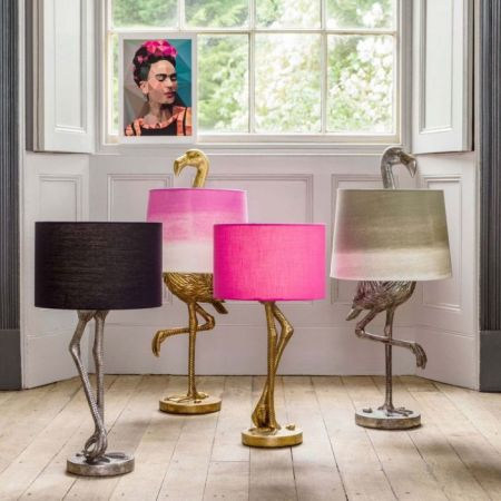 Silver Leggy Flamingo Table Lamp