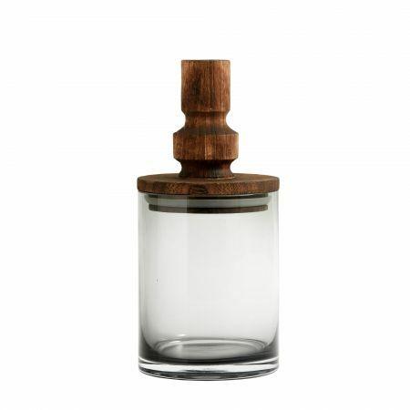 Small Wooden Lid Storage Jar