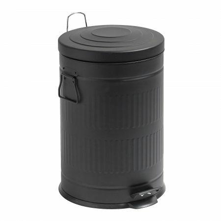 Black 20L Pedal Bin