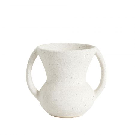 White Double Handle Pot
