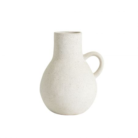 White Single Handle Pot