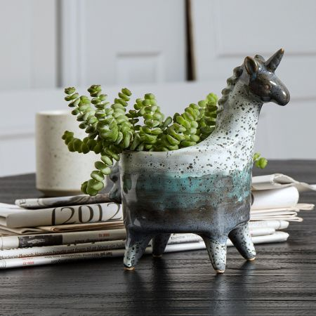 Leo Unicorn Planter