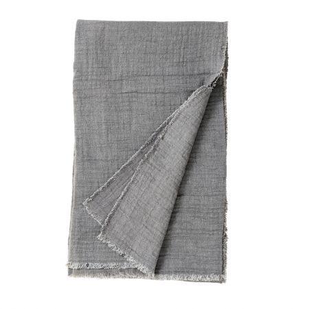 Grey Cotton Yoga Shawl