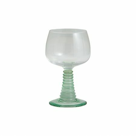 Ribbed Stem Wine Glass