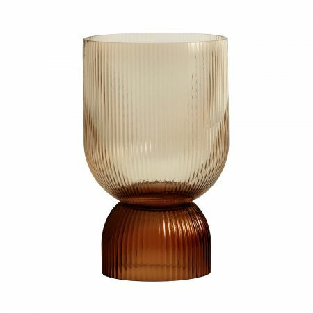 Large Ribbed Glass Votive