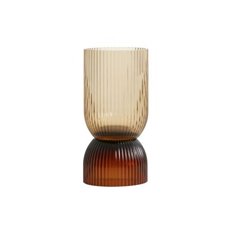 Small Ribbed Glass Votive