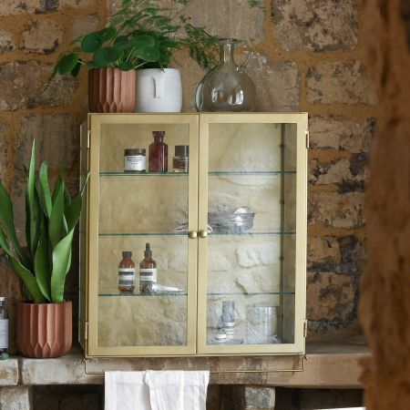 Marie Wide Glass Cabinet