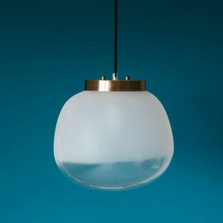 Frosted Glass Globe Pendant
