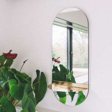 Mae Oval Mirror with Shelf
