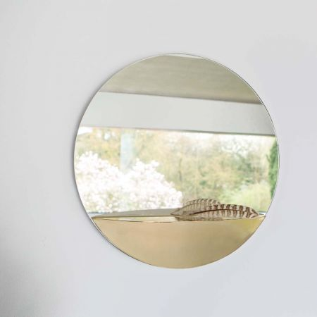 Mae Circular Mirror with Shelf