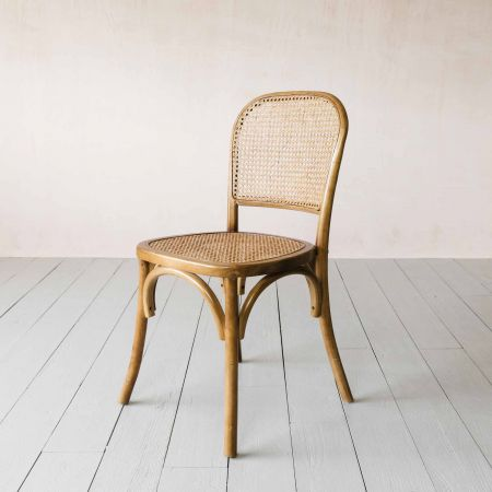 Natural Wicker Bistro Chair