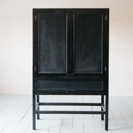 Skylar Black Teak Cabinet