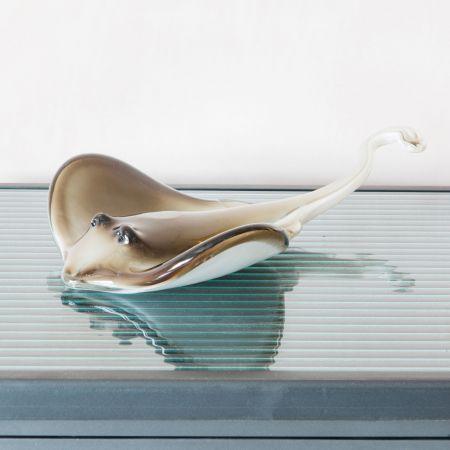 Glass Stingray Ornament