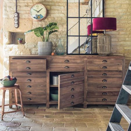 Three Door Larkin Pine Sideboard