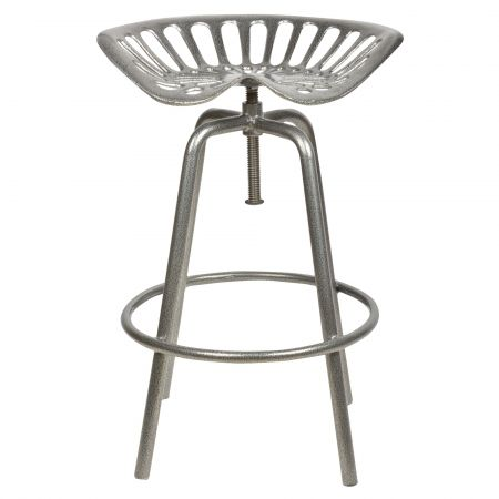 Grey Tractor Seat Stool