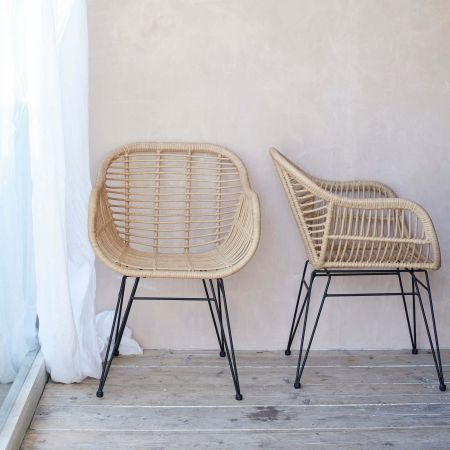 Set Of Two Hampstead Rattan Chairs