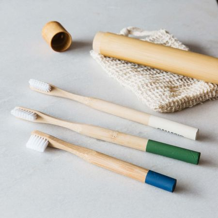 Green Bamboo Toothbrush