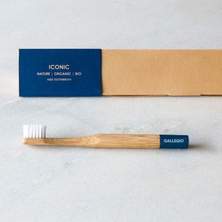 Kids Blue Bamboo Toothbrush