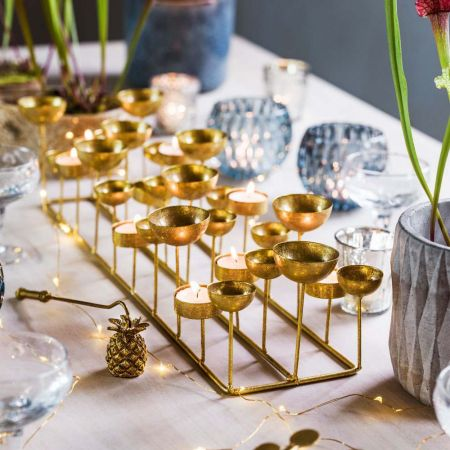 Gold Multi Tea Light Holder