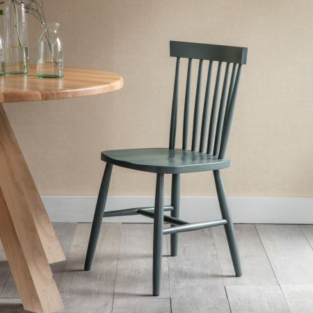 Forest Green Spindle Chair