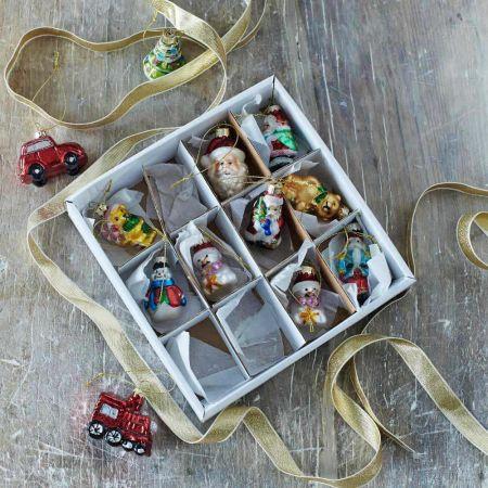 Miniature Festive Tree Decorations Set Of Twelve - Thumbnail