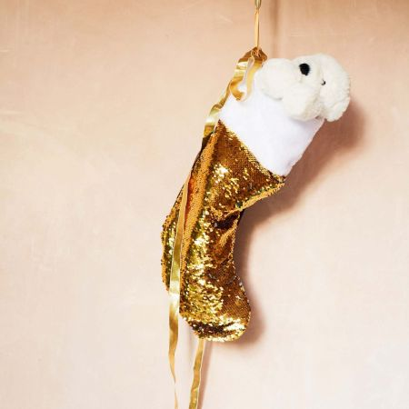 Gold Sequin Stocking