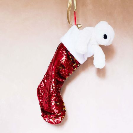 Red Sequin Stocking - Thumbnail