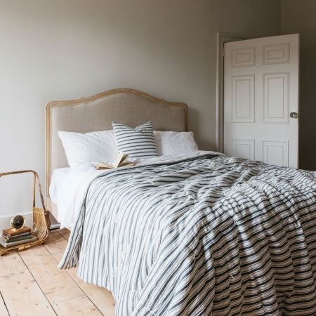 Charcoal Stripe King Size Quilt
