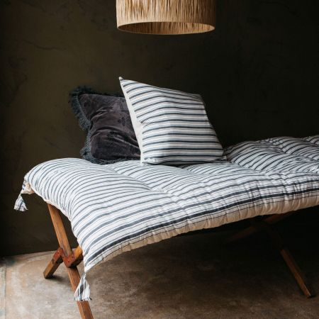 Charcoal Stripe Bed Roll