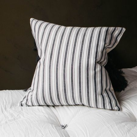 Charcoal Stripe Cushion