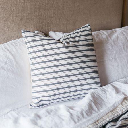 Charcoal Stripe Cushion