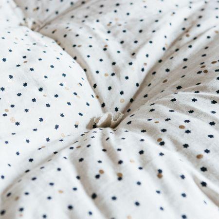 Blue Star Print Bed Roll