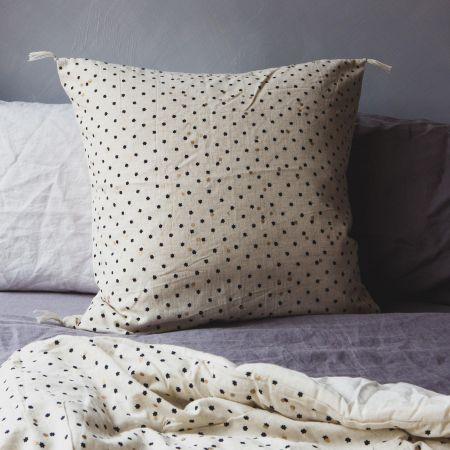 Blue Star Print Cushion