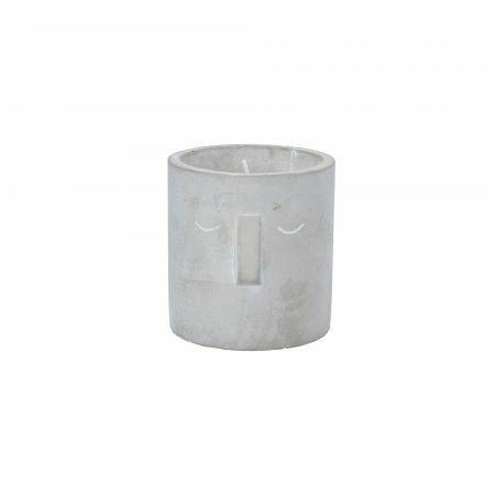 Concrete Face Citronella Candle