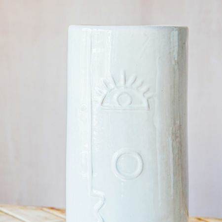 Large Face Ceramic Vase