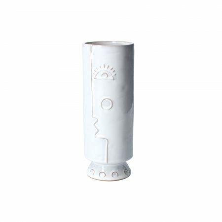 Small Face Ceramic Vase