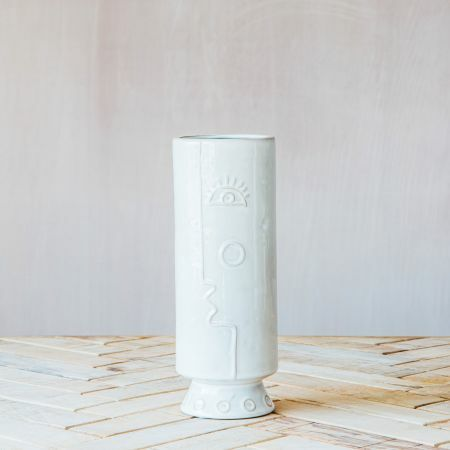 Small Face Ceramic Vase
