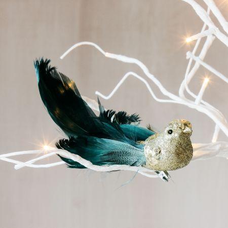 Gold Sequin Bird Clip