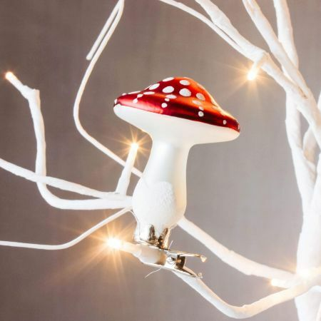 Glass Toadstool Clip