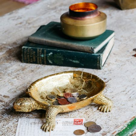 Jose the Tortoise Gold Dish