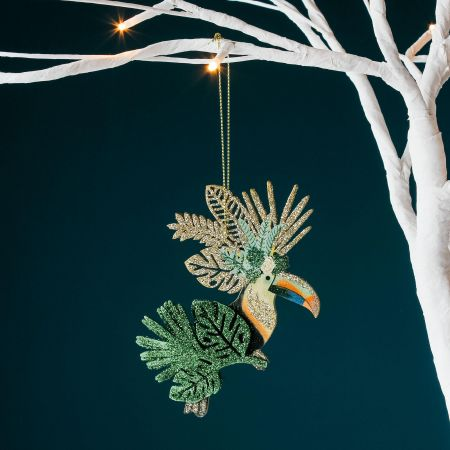 Glitter Toucan Decoration
