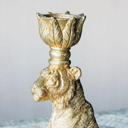 Khan Tiger Gold Candlestick
