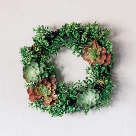 Glitter Succulent Wreath