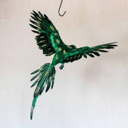 Green Flying Parrot