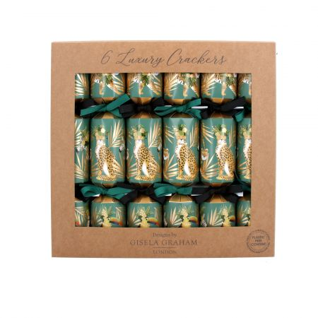 Set of Six Jungle Cat Crackers