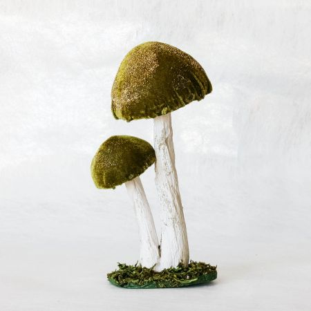 Green Double Toadstool Decoration